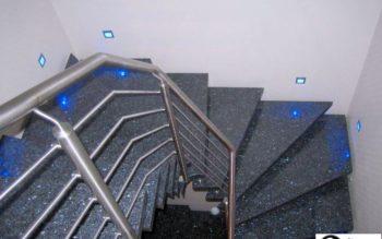 Schody granitowe blue pearl