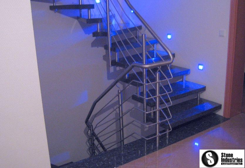 Schody granitowe blue pearl 2